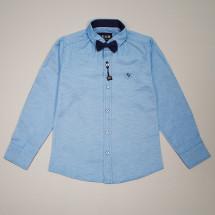 Рубашка голубого цвета в комплекте с бабочкой