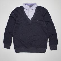 """Джемпер-обманка с имитацией рубашки """"Щит"""""""
