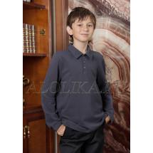 Джемпер поло для мальчиков серого цвета