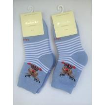 Носки голубые теплые олень