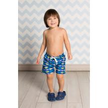 """Шорты купальные для мальчиков синего цвета """"акулы"""""""