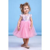 """Платье нарядное розового цвета с узорами """"Spring"""""""