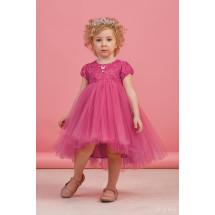 """Платье нарядное малинового цвета с пышной асимметричной юбкой """"Поленька"""""""
