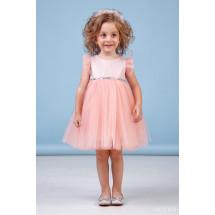 """Платье нарядное для малышек персикового цвета """"Берта"""""""