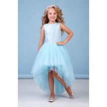 """Платье нарядное со шлейфом голубого цвета """"Аура"""""""