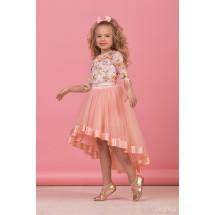 """Комплект нарядный для девочек персикового цвета из трех предметов """"Торжество"""""""