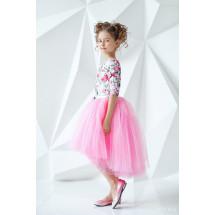 """Платье нарядное с рукавом 3/4 нежно-розового цвета """"Flowers"""""""