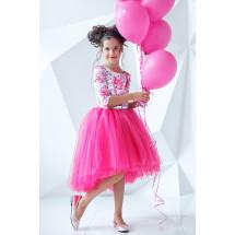 """Платье нарядное с рукавом 3/4 ярко-розового цвета """"Flowers"""""""