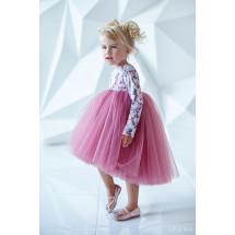 """Платье нарядное с длинным рукавом цвета сухая роза """"Flowers"""""""