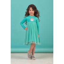 """Платье для девочек с длинным рукавом мятного цвета """"Spring"""""""