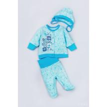 """Комплект на выписку для новорожденного голубого цвета """"Мишки"""""""