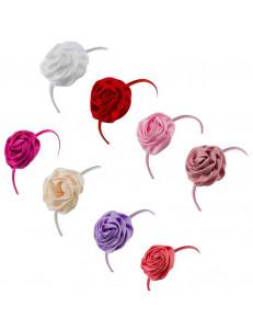 Ободок нарядный роза