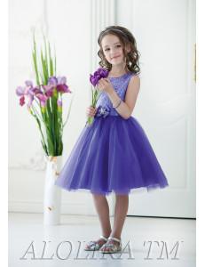 Платье нарядное фиолетового цвета Мариэтта