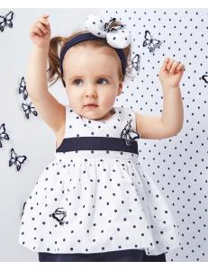 Платье для малышек в синий горошек cocoland