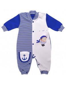 """Комбинезон для малышей синего цвета """"Морячок"""""""