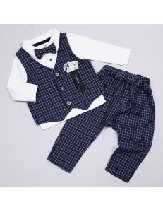"""Костюм для мальчиков нарядный синего цвета из 4-х предметов """"Томас"""""""