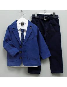 """Костюм для мальчиков с пиджаком ультра-синего цвета """"Рыцарь"""""""