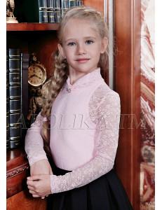 """Джемпер для девочек розового цвета из гипюра """"Лора"""""""