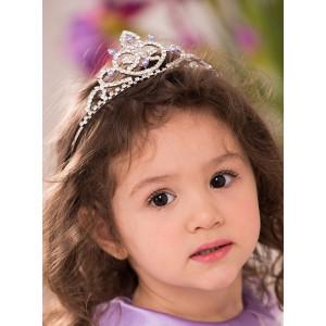 Диадема для девочки с сиреневыми бусинками Королева Екатерина