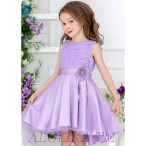 """Платье нарядное сиреневого цвета с асимметричной юбкой """"Оливия"""""""
