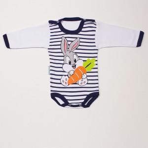Боди для малышей зайчик с морковкой