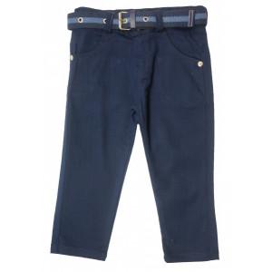 Брюки для мальчиков синего цвета с ремешком