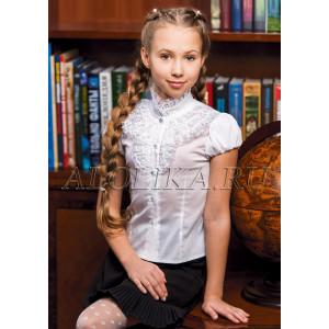 """Блузка белого цвета с кружевом """"Надин"""""""