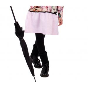 Колготки гладкие черные для девочек лукоморье
