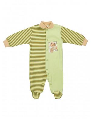 """Комбинезон в зеленую полоску для малышей """"лева"""""""