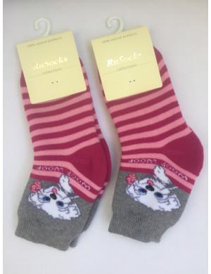Носки теплые для девочек с собачкой