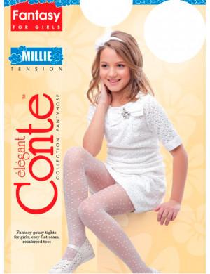 Колготки нарядные белые на девочку Millie