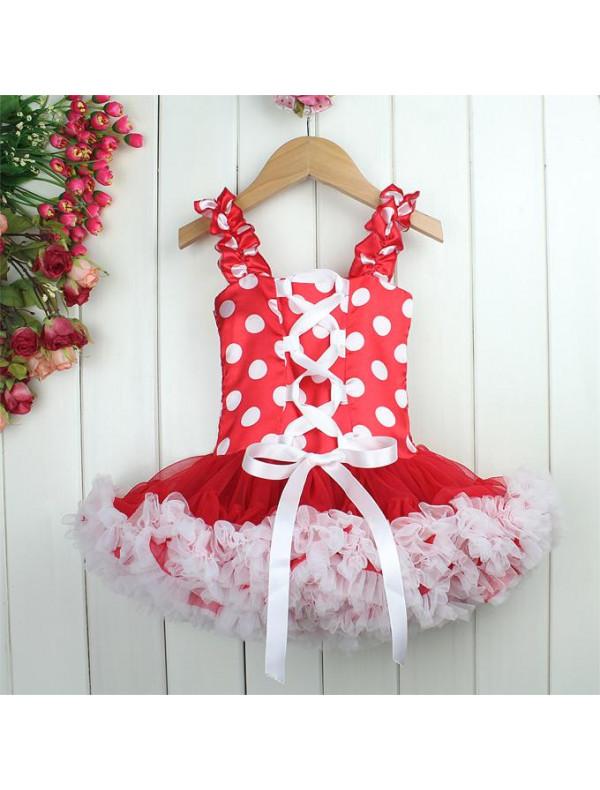 30730c4d255 Платье пышное красное в белый горошек Американка – Цена 1480 руб ...