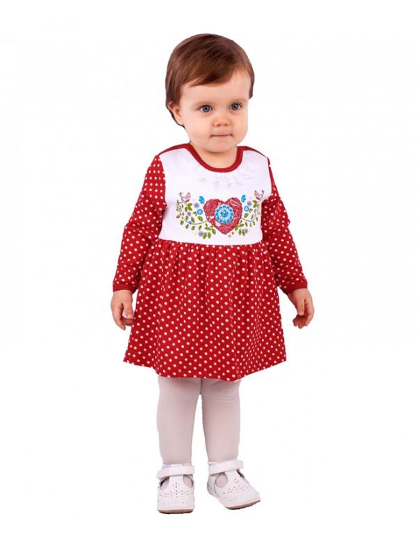 44f7a9c47f4 Платье-боди для малышек красного цвета в горошек – Цена 801 руб ...
