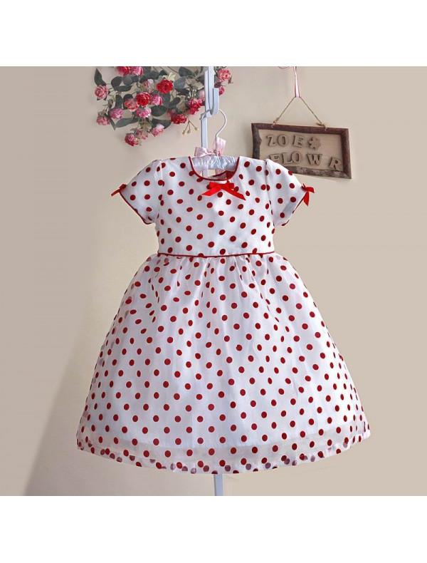 e654e0183f1 Платье белое в красный горох – Цена 960 руб. купить в интернет ...