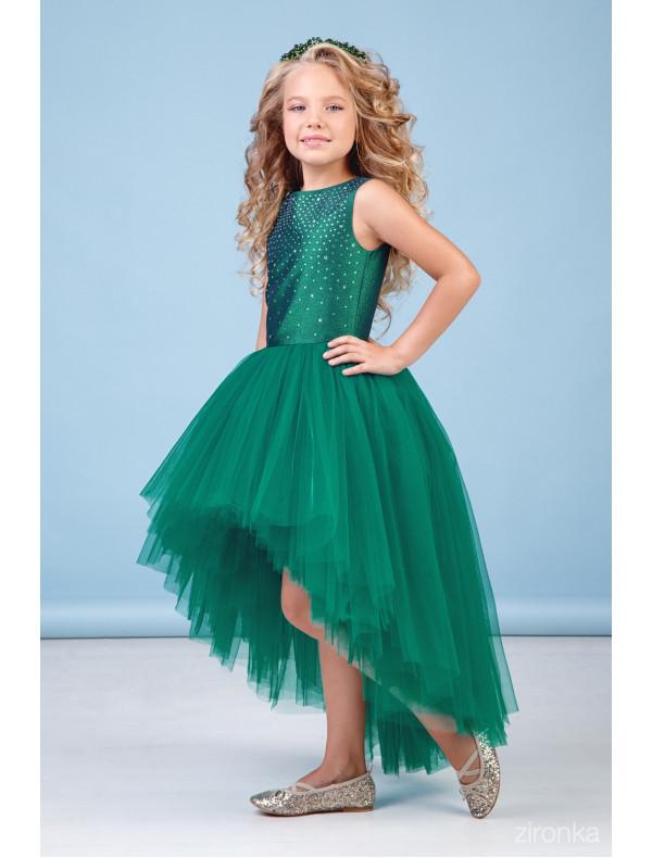 bb4938a52d3 Платье нарядное со шлейфом изумрудного цвета Аура – Цена 3870 руб ...
