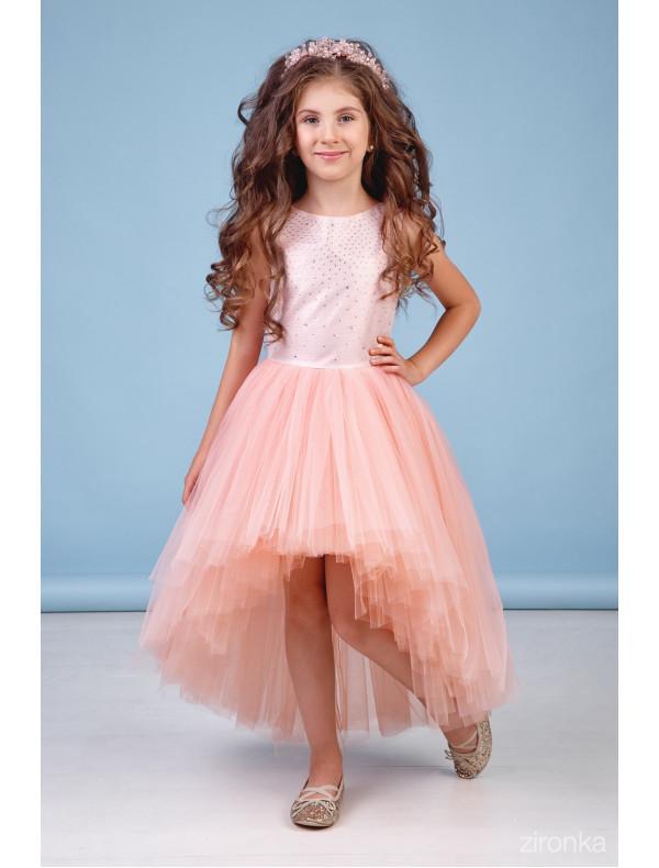 b5b7678608d Платье нарядное со шлейфом персикового цвета Аура – Цена 3870 руб ...
