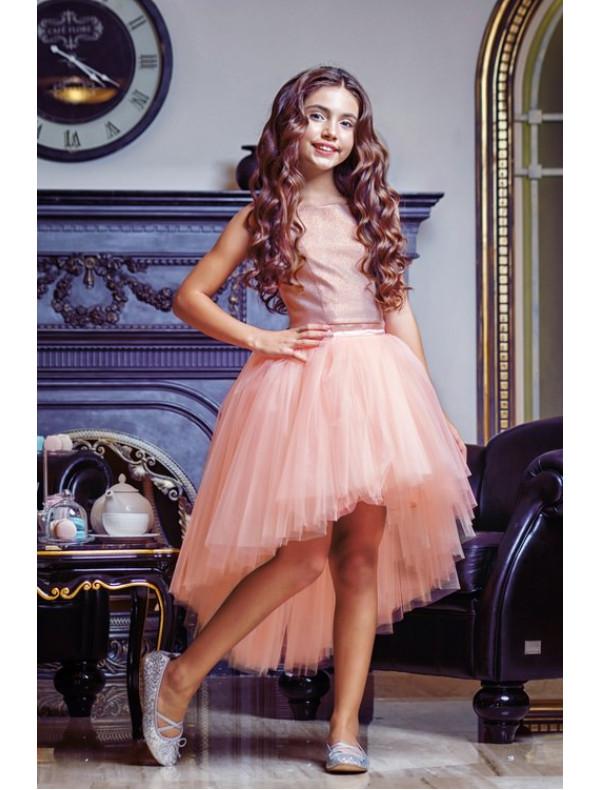 039b4a5dfe9 Платье раздельное персикового цвета топ и юбка с хвостом – Цена 4900 ...