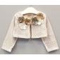 Платье нарядное для малышек цвета капучино с кружевным болеро