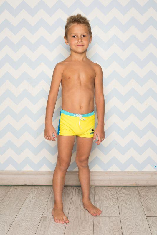 """Плавки купальные для мальчиков желтого цвета """"Удача"""""""